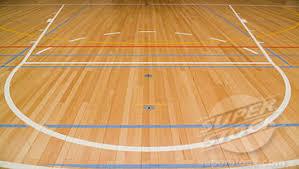 شكل ملعب كرة السلة