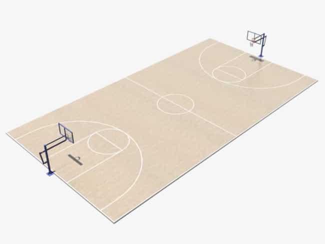 قياسات ملعب كرة السلة
