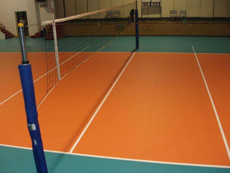 مساحة ملعب كرة الطائرة