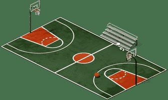 صور قياسات ملعب كرة السلة