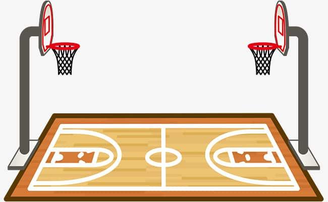 صور رسم ملعب كرة السلة