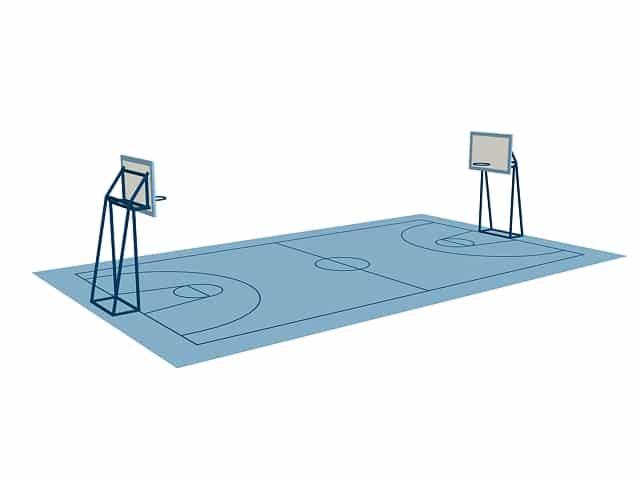 صور طول وعرض ملعب كرة السلة