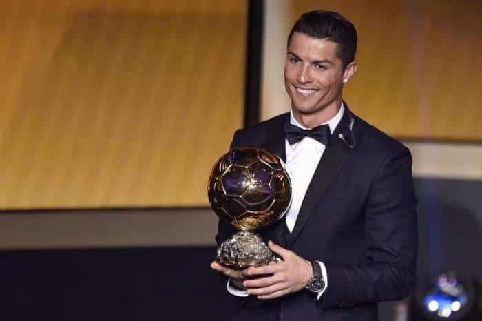 كم مرة حصل كريستيانو رونالدو على الكرة الذهبية
