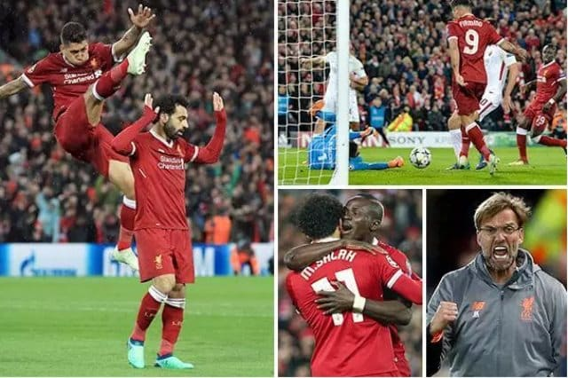 صور ملخص مباراة ليفربول وروما بدوري الأبطال