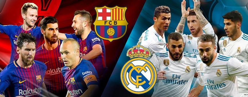 كلاسيكو مثير ينتهي بالتعادل بين برشلونة وريال مدريد