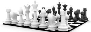 يبدأ لاعب الشطرنج بكم حجر